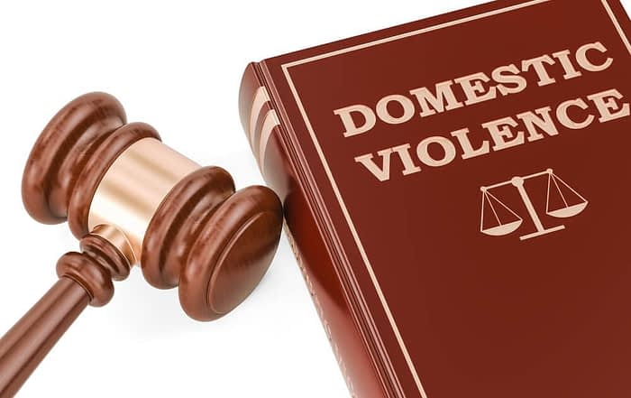 domestic violence law with gavel